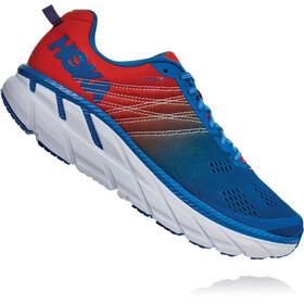Hoka One One Clifton 6 Shoes Men, mandarin red/imperial blue